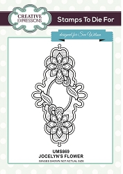 Sue Wilson Designs - Cling Mounted Stamp - Jocelyn's Flower