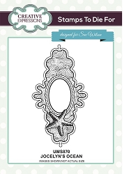 Sue Wilson Designs - Cling Mounted Stamp - Jocelyn's Ocean