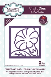 Sue Wilson Designs - Die - Frames & Tags - Petunia Flower Square
