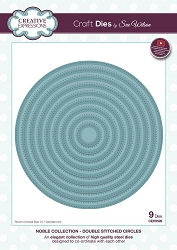 Sue Wilson Designs - Die - Noble Collection - Double Stitched Circles