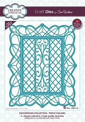 Sue Wilson Designs - Die - Backgrounds Collection - Triple Column