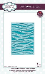 Sue Wilson Designs - Die - LayeringBackgrounds Collection - Ocean Waves