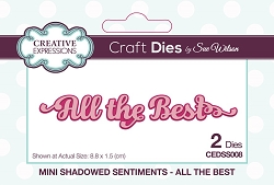 Sue Wilson Designs - Die - Mini Shadowed Sentiments - All The Best