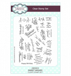 Sue Wilson Designs - Clear Stamp Set - Sweet Wishes