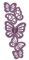 Sue Wilson Designs - Die - Finishing Touches Collection - Cascading Butterflies