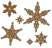 Sue Wilson Designs - Die - Festive Collection - Snowflakes :)