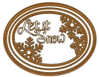 Sue Wilson Designs - Die - Festive Collection - Peeking Snowflake :)