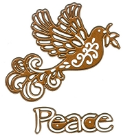 Sue Wilson Designs - Die - Festive Collection - Dove of Peace :)