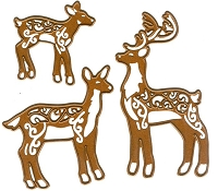 Sue Wilson Designs - Die - Festive Collection - Deer Family