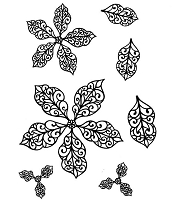 Sue Wilson Designs - Cling Stamp - Filigree Poinsettia Additions