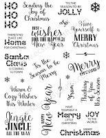 Sue Wilson Designs - Clear Stamps - Santa's Sentiments