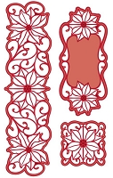 Sue Wilson Designs - Die - Festive Collection - Poinsettia Corner, Border and Tag