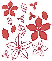 Sue Wilson Designs - Die - Festive Collection - Poinsettia Additions