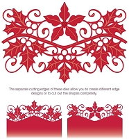 Sue Wilson Designs - Die - Festive Collection - Poinsettia and Holly Gemini