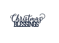 Sue Wilson Designs - Die - Festive Collection - Contemporary Christmas Blessings