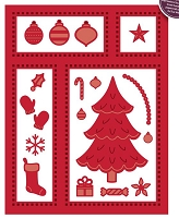 Sue Wilson Designs - Die - Festive Collection - Christmas Shadow Box