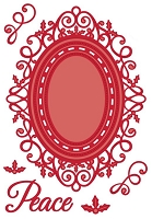 Sue Wilson Designs - Die - Festive Collection - Ornate Holly Framed Peace