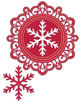 Sue Wilson Designs - Die - Festive Collection - Bold Snowflake Frame