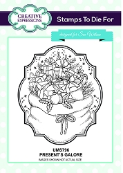 Sue Wilson Designs - Cling Mounted Stamp - Presents Galore