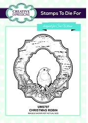 Sue Wilson Designs - Cling Mounted Stamp - Christmas Robin