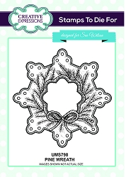 Sue Wilson Designs - Cling Mounted Stamp - Pine Wreath