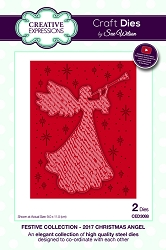 Sue Wilson Designs - Die - Festive Collection 2017 Christmas Angel