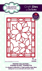 Sue Wilson Designs - Die - Festive Collection Stained Glass - Poinsettia