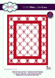 Sue Wilson Designs - Die - Festive Collection Twinkle Star Frames