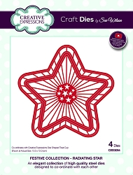 Sue Wilson Designs - Die - Festive Collection Radiating Star