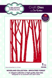 Sue Wilson Designs - Die - Woodland Collection Birch Tree Forest