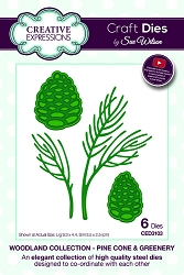 Sue Wilson Designs - Die - Woodland Collection Pine Cone & Greenery