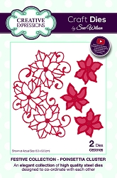 Sue Wilson Designs - Die - Festive Collection Poinsettia Cluster