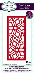 Sue Wilson Designs - Die - Festive Collection Stitched Snowflake Striplet