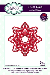 Sue Wilson Designs - Die - Festive Collection Scalloped Snowflake Frame