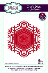 Sue Wilson Designs - Die - Festive Collection Lace Snowflake Frame