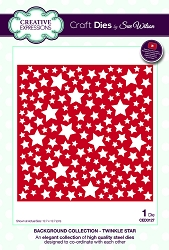 Sue Wilson Designs - Die - Background  Collection Twinkle Star