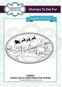 Sue Wilson Designs - Cling Mounted Stamp - Angelina's Christmas Eve Scene