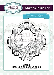 Sue Wilson Designs - Cling Mounted Stamp - Natalie's Christmas Robin