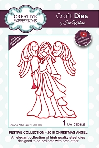Sue Wilson Designs - Die - Festive Collection 2018 Christmas Angel