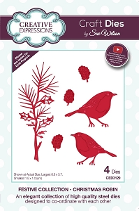 Sue Wilson Designs - Die - Festive Collection Christmas Robin