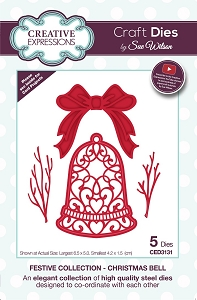 Sue Wilson Designs - Die - Festive Collection Christmas Bell