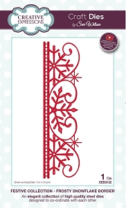 Sue Wilson Designs - Die - Festive Collection Frosty Snowflake Border