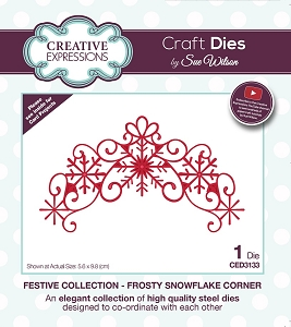 Sue Wilson Designs - Die - Festive Collection Frosty Snowflake Corner