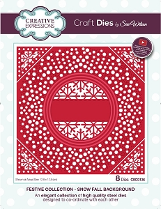 Sue Wilson Designs - Die - Festive Collection Snow Fall Background