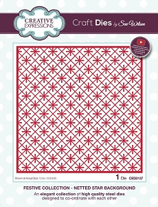 Sue Wilson Designs - Die - Festive Collection Netted Star Background