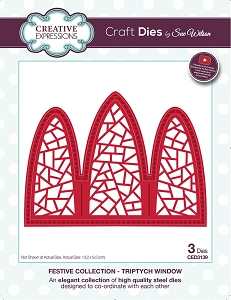 Sue Wilson Designs - Die - Festive Collection Triptych Window