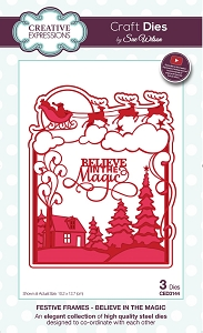 Sue Wilson Designs - Die - Festive Frames Collection Believe in Magic