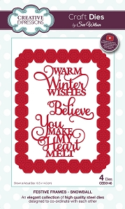 Sue Wilson Designs - Die - Festive Frames Collection Snowball