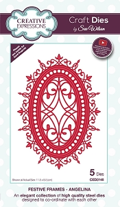 Sue Wilson Designs - Die - Festive Frames Collection Angelina