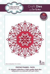 Sue Wilson Designs - Die - Festive Frames Collection Faith